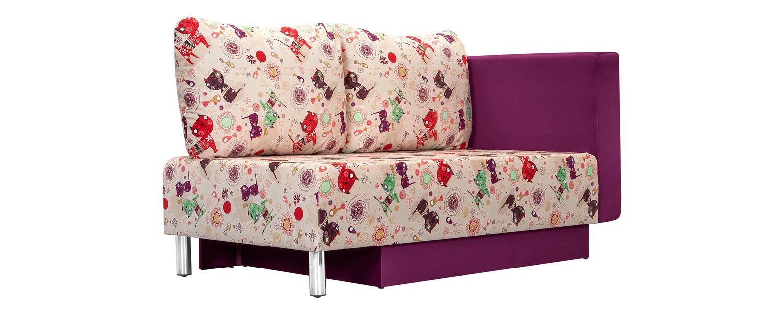 описание Диван тканевый прямой Лион Cats розовый (Ткань)