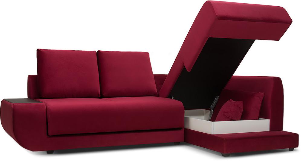 описание Диван угловой Манхэттен Velvet Crimson