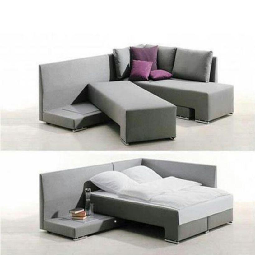 пример использования модульного дивана- трансформера