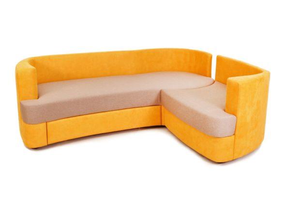 Немного скругленная форма дивана