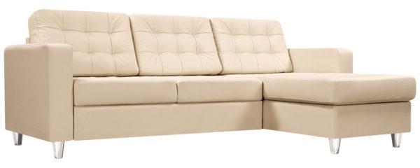 Красивый бежевый угловой диванчик