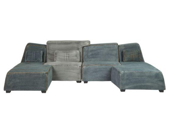 необычный модульный диван для гостиной- распадается