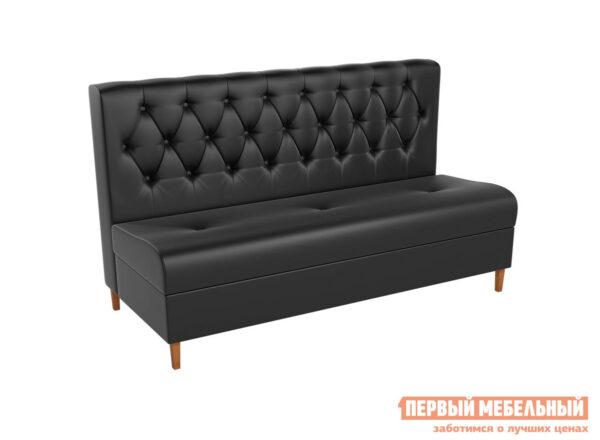 описание Кухонный диван Мебелико Диван Бремен Экокожа черная