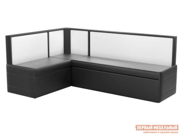 фотографии Кухонный диван Мебелико Кристина Экокожа черно-белый