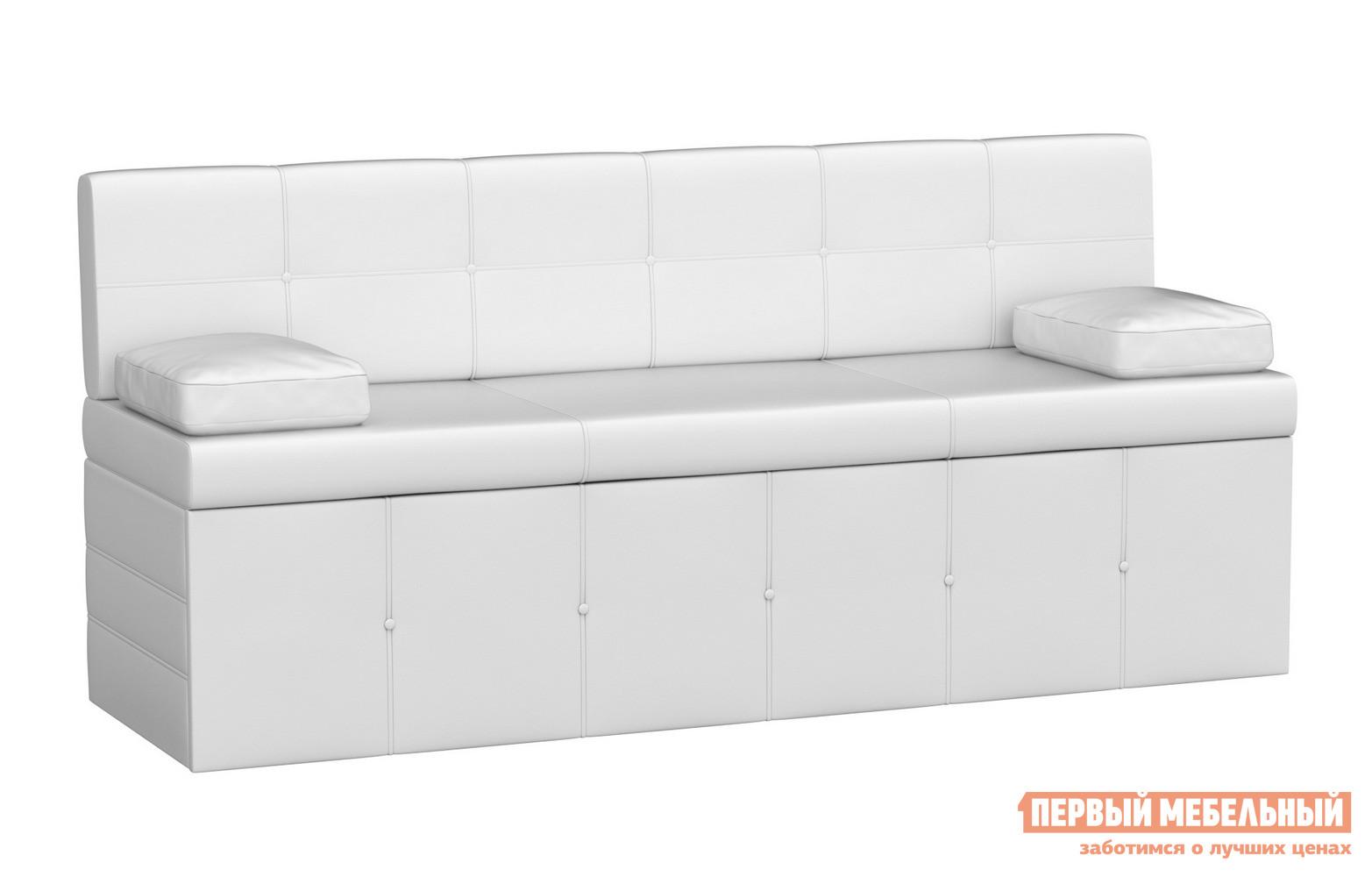 описание Кухонный диван Мебелико Кухонный диван Лео Экокожа белая