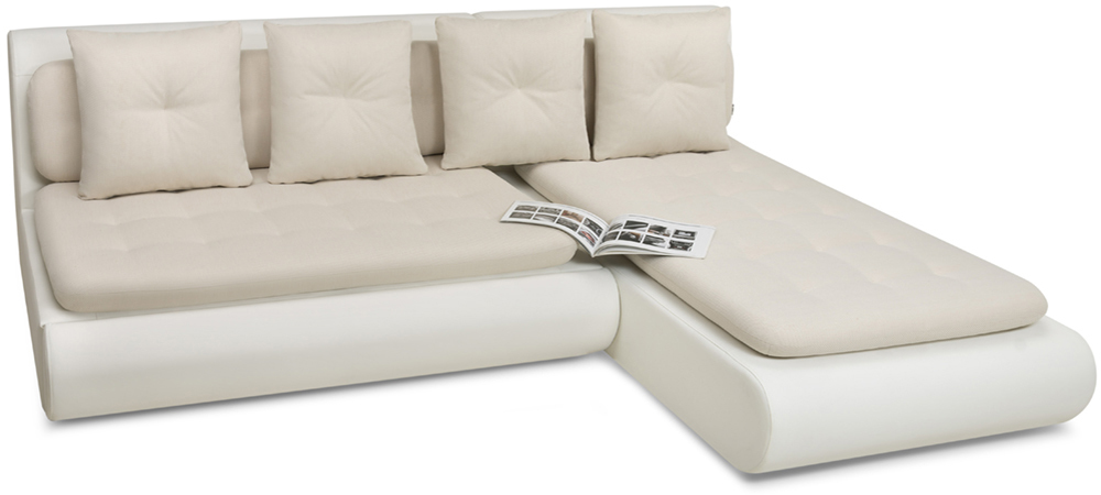 фотография белого модульного дивана